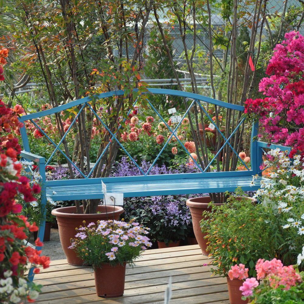 Griffith Creek Designs Verdana Steel Garden Bench Contemporary Garden Bench Outdoor Outdoor Patio Decor