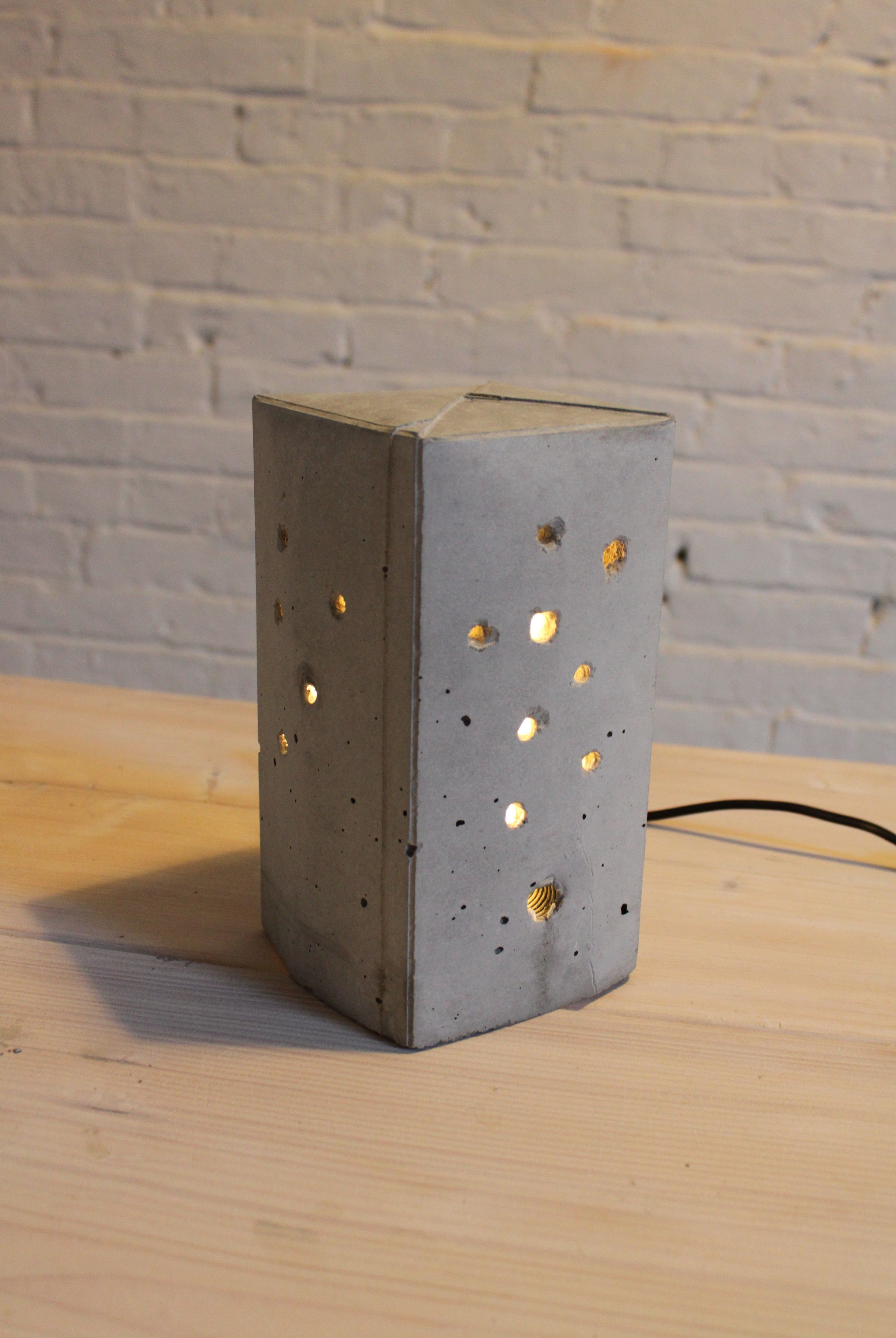 A Cute Beginner Concrete DIY Project  A Lamp Using A Milk Carton To Cast