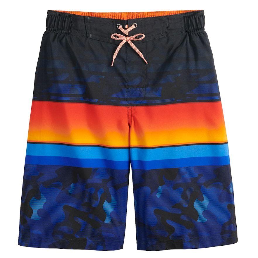 Boys 8 20 Zeroxposur Grom Striped Swim Trunks Products