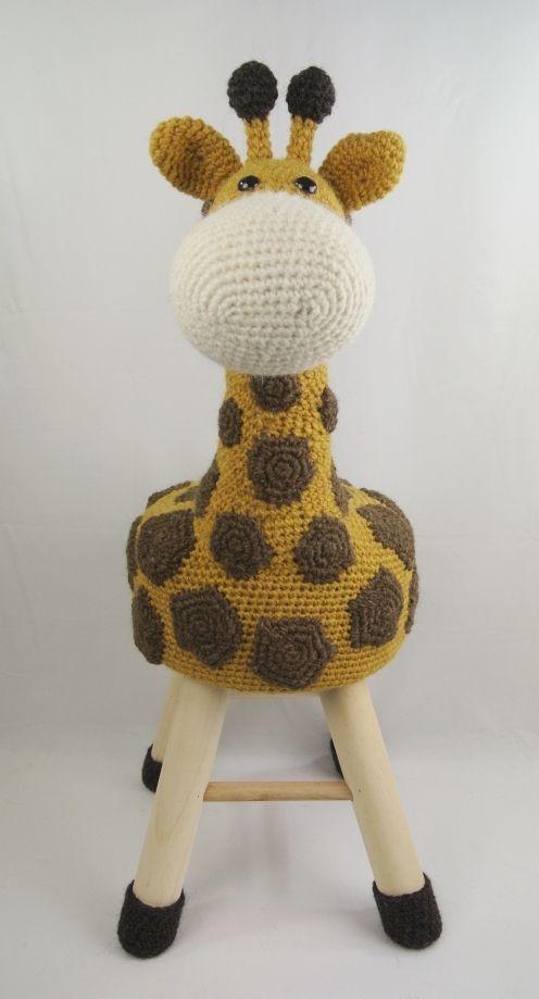 Dieren Kruk Haken Giraffe Haakpret Baby Knit Crochet Pinterest