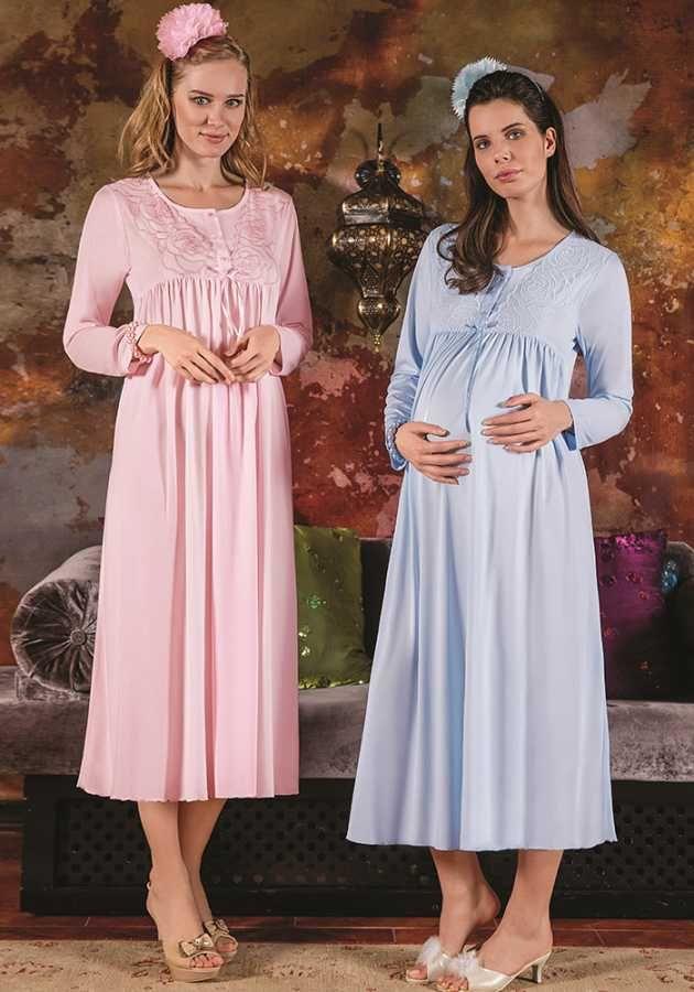 Berrak 232 Bayan Hamile Gecelik Bayan Gecelik Hamile Bayan Gecelik Hamile Nedime Giysileri Gecelikler Moda Stilleri