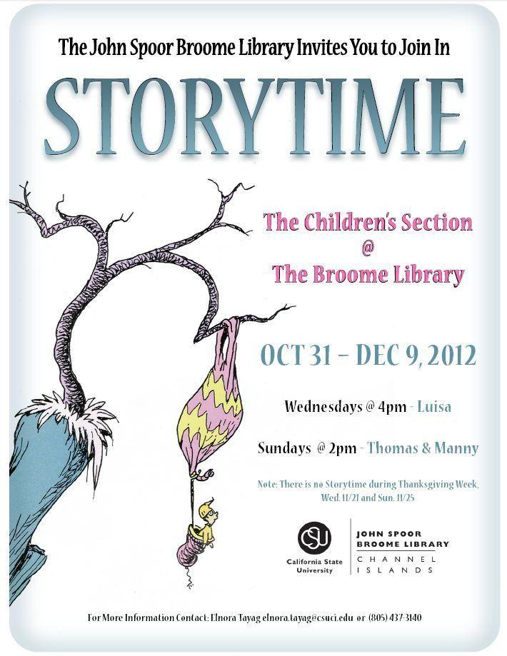 Storytime Dr Seuss Flyer Design Pinterest