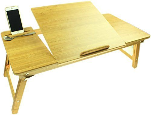 Ucharge Portable Adjustable Bamboo Laptop Desk Table