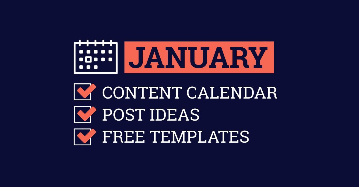January Content Calendar Ideas Templates Infographics