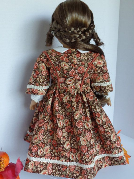 1860'S Fall Dress for Most 18 inch Dolls by PeppersDollClothes