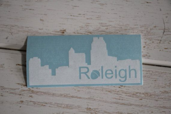Items similar to raleigh skyline decal raleigh nc city of oaks raleigh acorn decal laptop decal raleigh nc car decal raleigh oaks raleigh skyline on