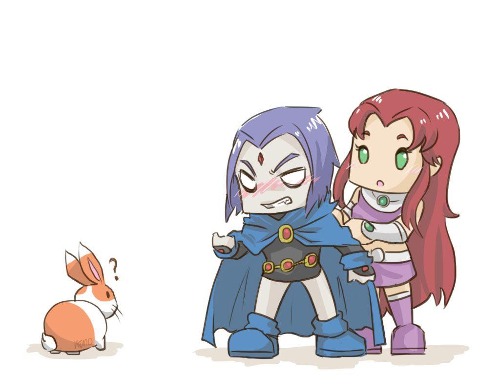 نتیجه تصویری برای starfire and raven Pinterest