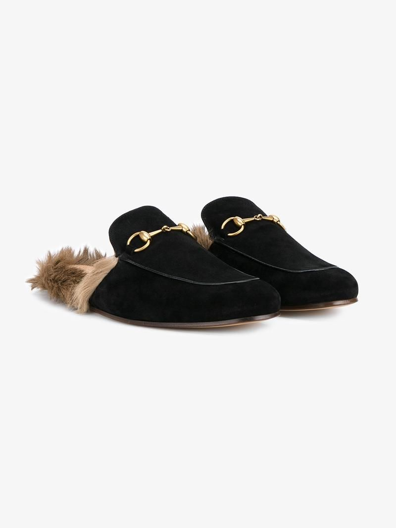 e1e37862f9e GUCCI FOX FUR LINING SLIPPERS.  gucci  shoes  flats