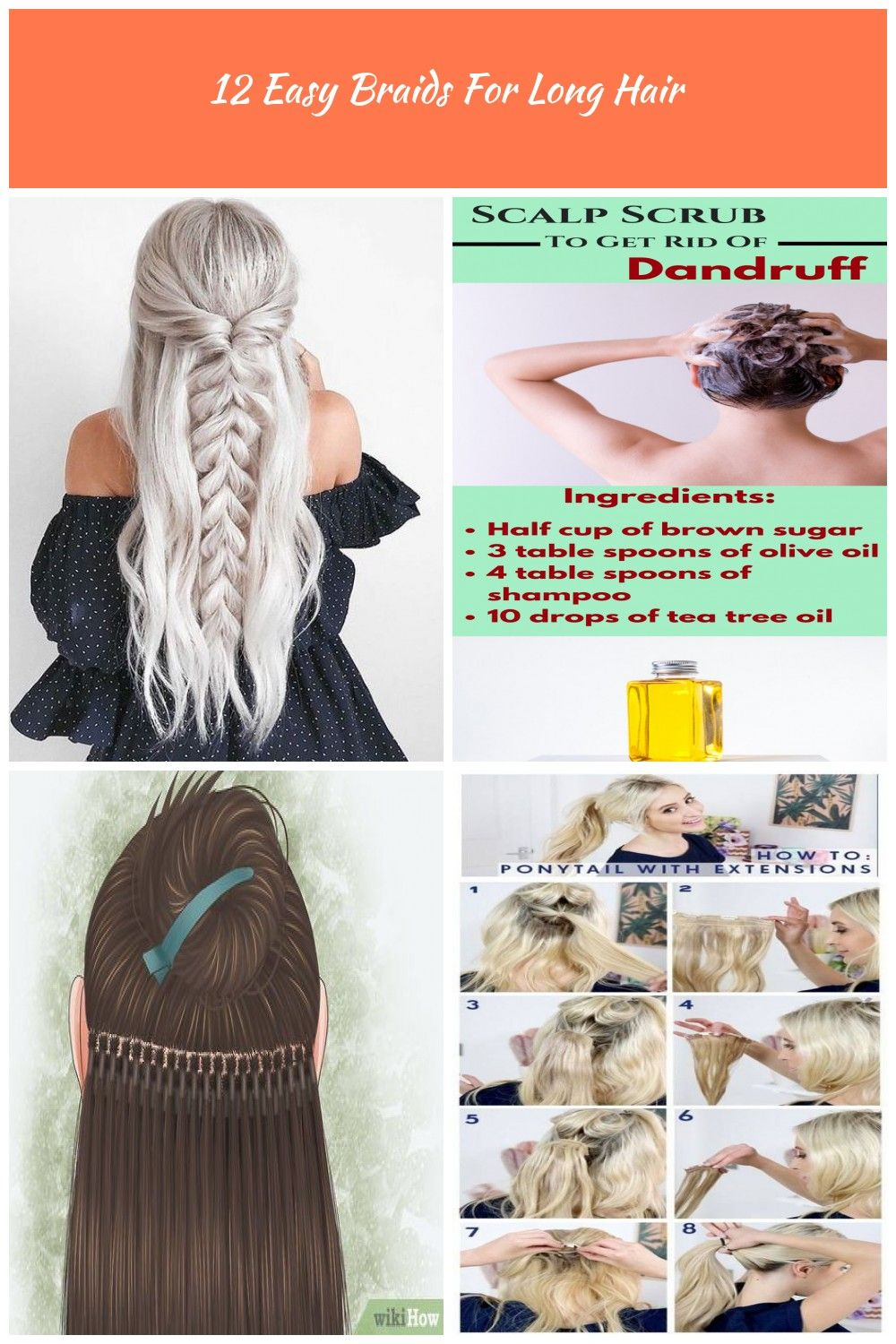 How To Get Rid Of Dandruff With Hair Extensions