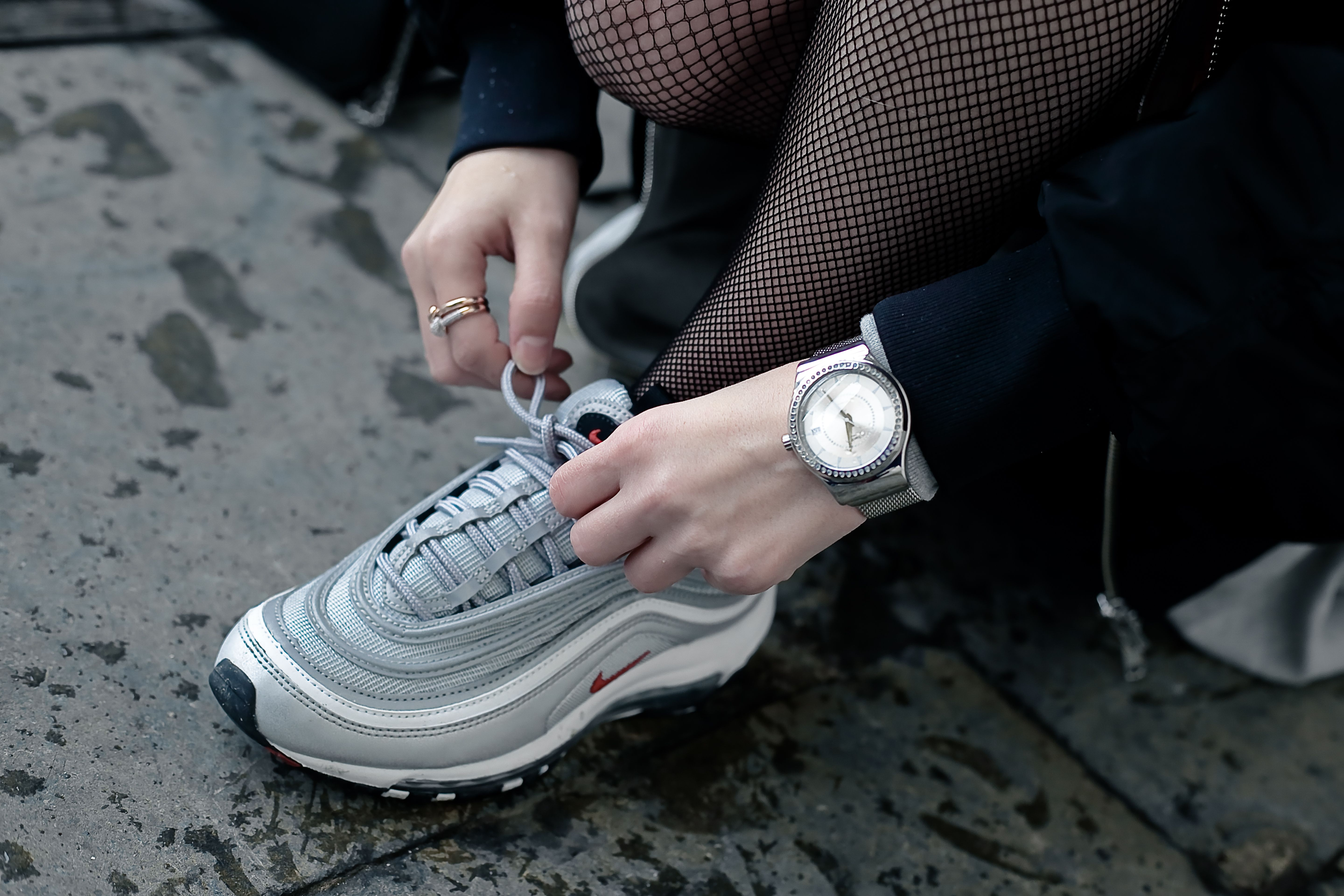 oversized bomber and nike air max 97 bullet silver | Airmax97