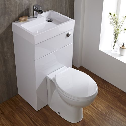 Milano Linton White Modern Select Toilet And Basin Unit