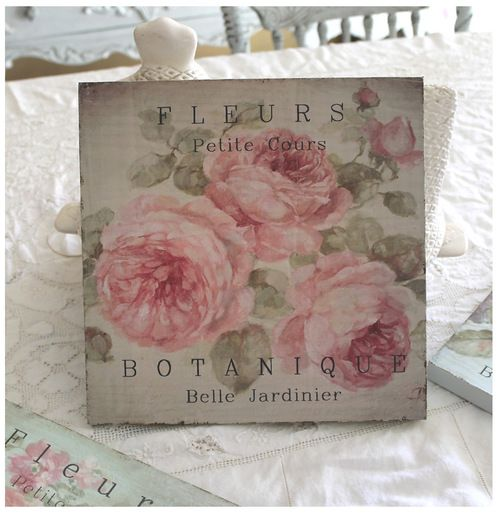 Shabby French Chic Fleurs Signs