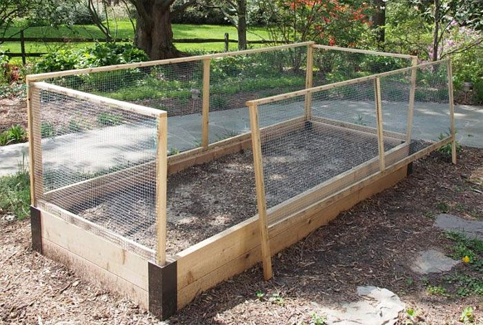 Raised Bed Fence With Custom Corners Fences Gardens And Raised Bed