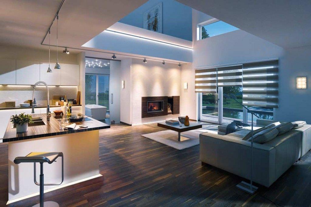 Wohnzimmer Koch ~ Led beleuchtung wohnzimmer ideen led streifen spots licht