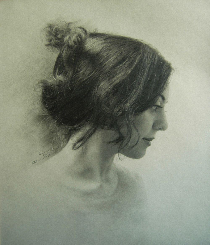 Neda Sajadi (pencil drawing)