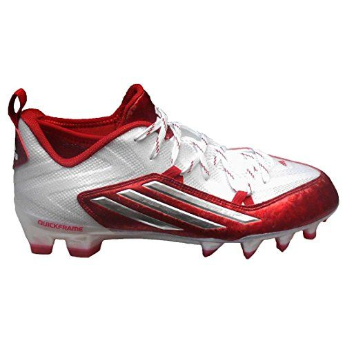 Adidas Men S Crazyquick 2 0 Football Cleats 10 White Platinum Power Red Cleats Adidas Football Cleats Football Cleats