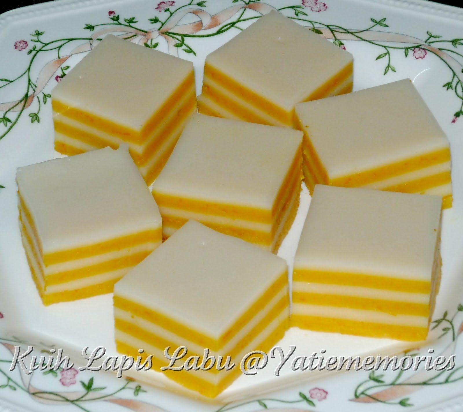 Sinar Kehidupanku Kuih Lapis Labu Asian Cake Asian Desserts Steamed Cake