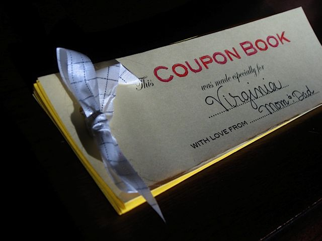 A book of coupon favors - what a thoughtful gift of time, not - how to make a voucher