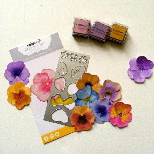 Kaiser Craft Decorative Dies Pansy Flower