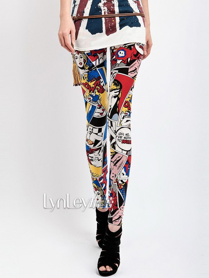 Aliexpress.com : Buy Best Selling!New 2013 Autumn Girl Fashion Cartoon Graffiti Doodle Printing Sexy Leggings Tights Pants S/M/L LD003 Limited from Reliable Leggings suppliers on New World International  Co.,Ltd. ---leggings world  $8.99