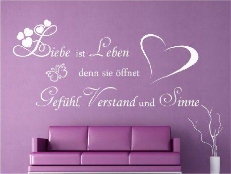 Wandtattoo Liebe ist Leben Sprüche Schlafzimmer Wohnzimmer M2054 - wandtattoos schlafzimmer sprüche
