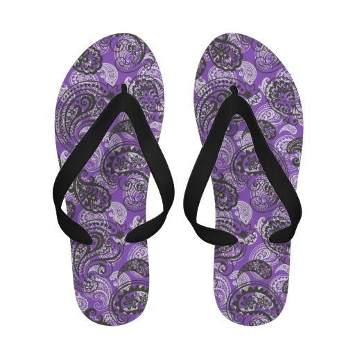Paisley in Purple Flip Flops