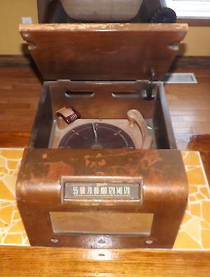 Vintage-MARCONI-Radio-Phonograph-Model-274-for-repairs-Wood-Boxed
