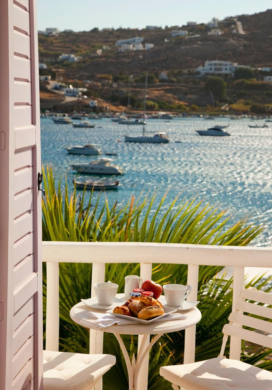 Breakfast with a view, Greece