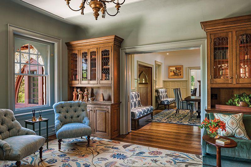 Transforming An Early 1900 S Wayne Tudor Home Interior Design House Design 1900s House