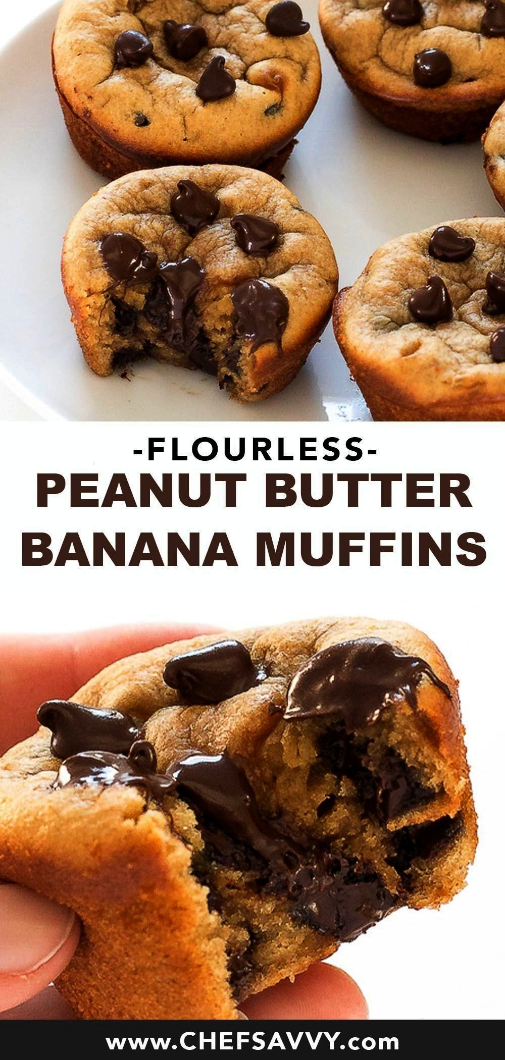 Peanut Butter Banana Muffins couldnt be easier Simply add all of the ingredients to a blender and pulse to combine thats it Best of all they are healthy gluten free and m...