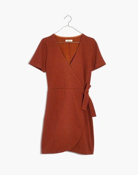 50eafef124 Texture   Thread Short-Sleeve Side-Tie Dress in burnt clay image 4