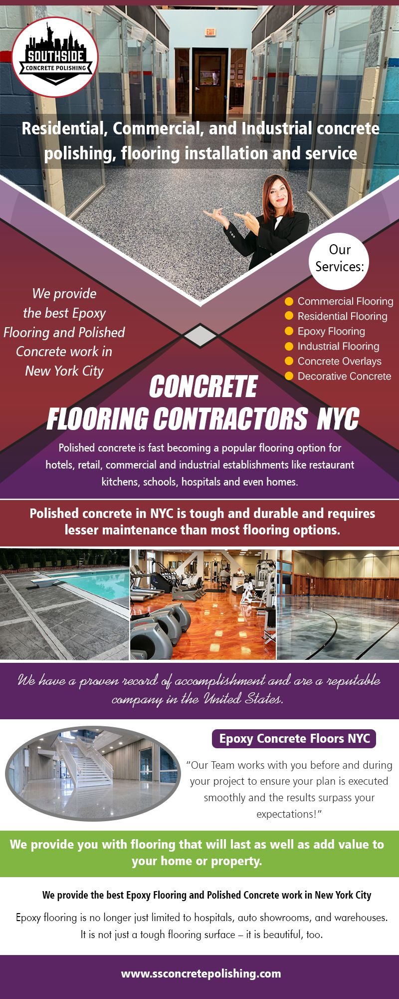 Concrete Contractor NYC Concrete floors, Flooring