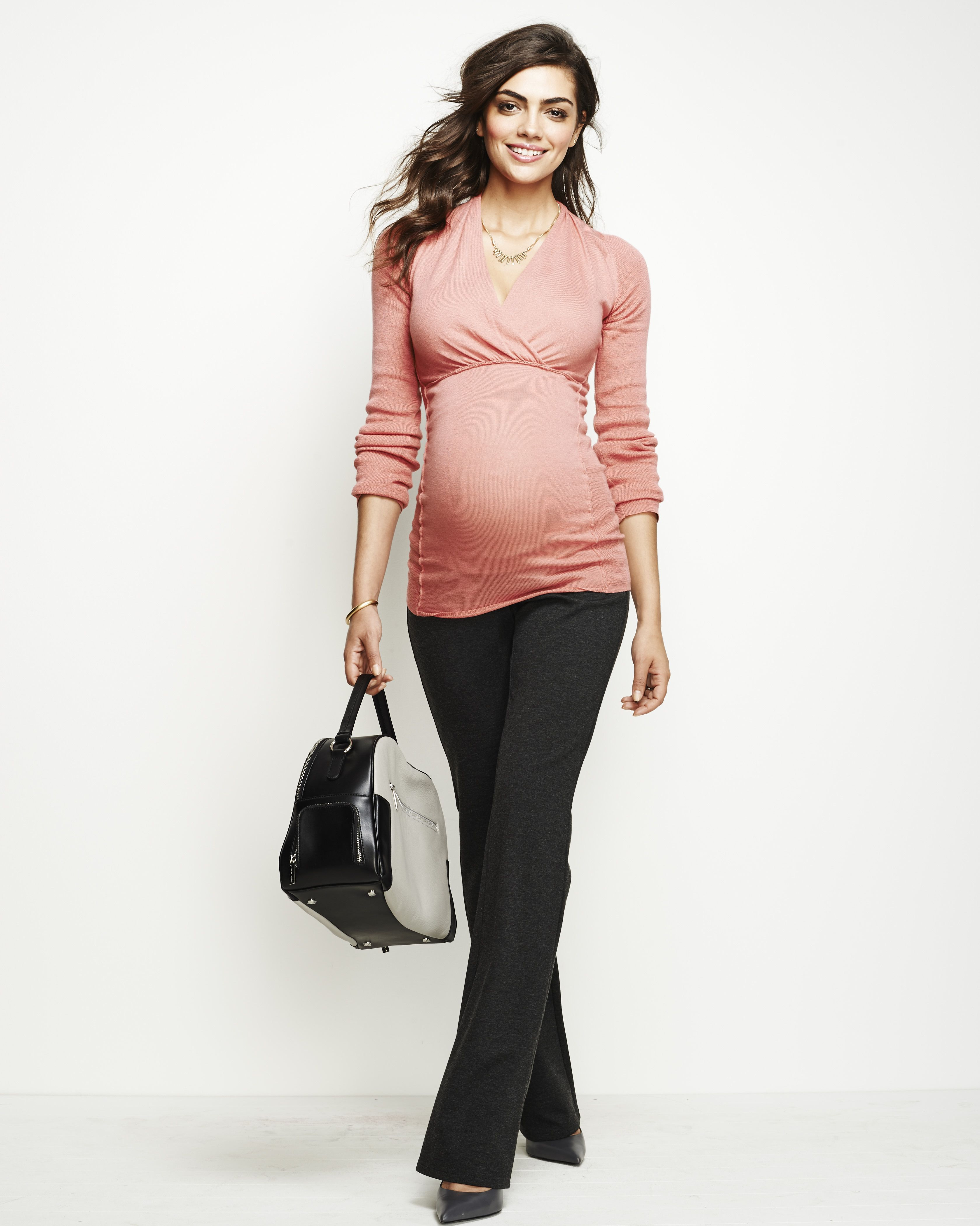 Secret Fit Belly® Bi-stretch Suiting Fit And Flare Maternity Pants