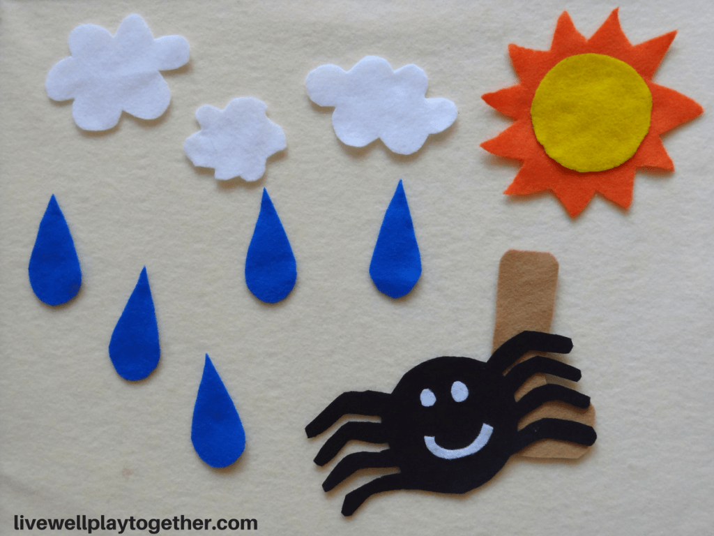Itsy Bitsy Spider Felt Board Set Free Printable Stencil To Make Your Own Free Stencils Printables Felt Board Felt Crafts