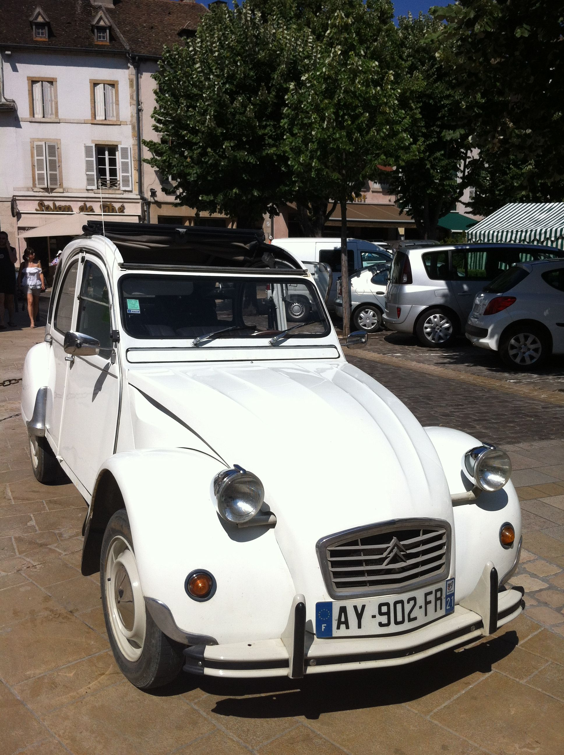 Snapped This Shining White Convertible 2cv In Beaune Beaune Citroen French Countryside