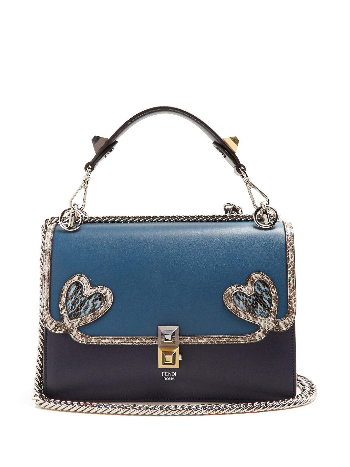 c83a1b44716 Kan I heart-detail leather shoulder bag   Fendi   MATCHESFASHION.COM ...