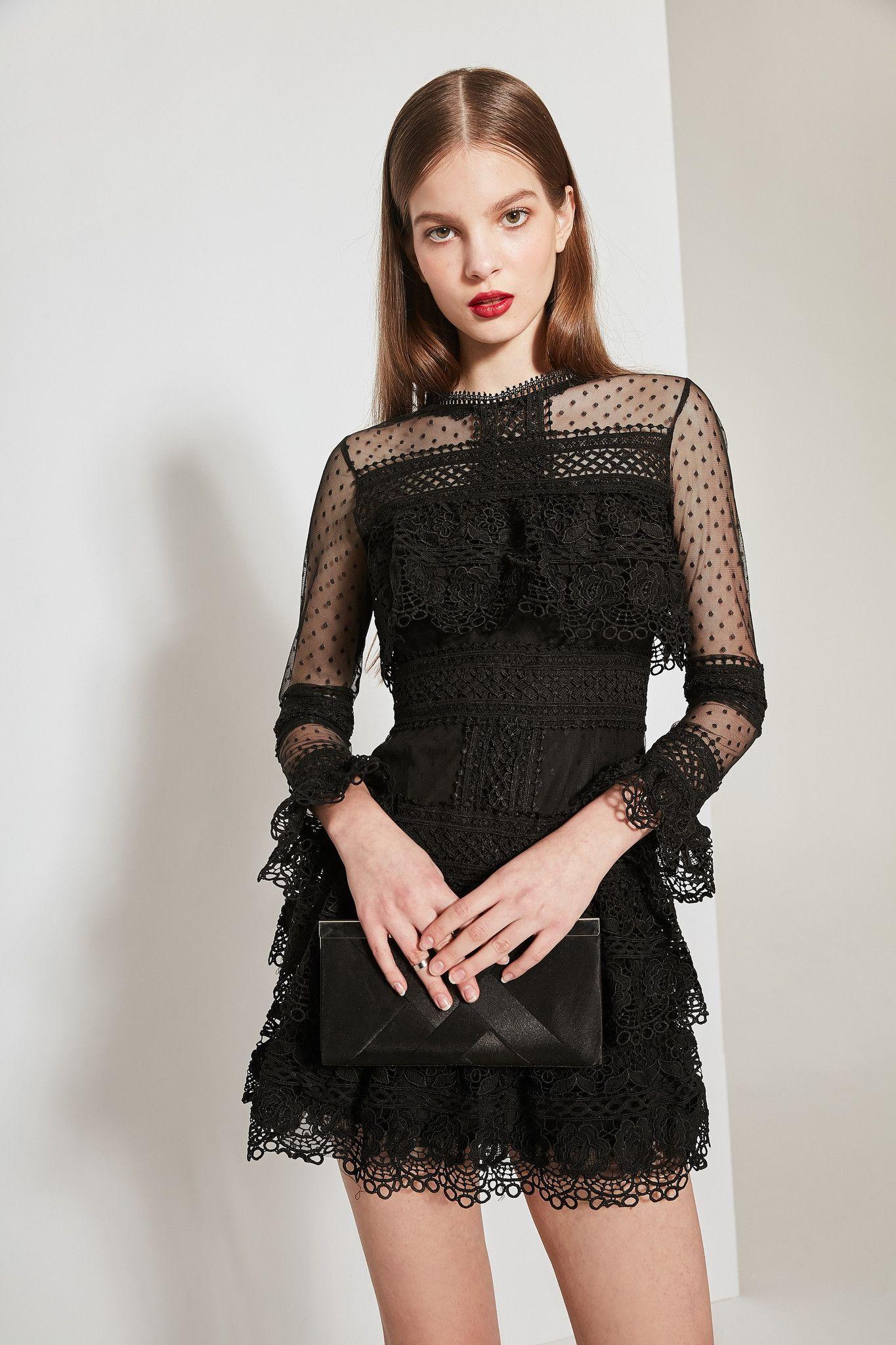 Fewmoda lace and mesh ruffle mini dress dr1418 mini dresses adorewe few moda minimalistic fashion brands online designer few moda lace and mesh floridaeventfo Image collections