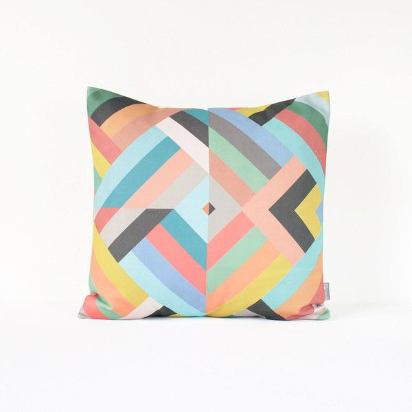 Geometric Throw Pillow Cover Mint and