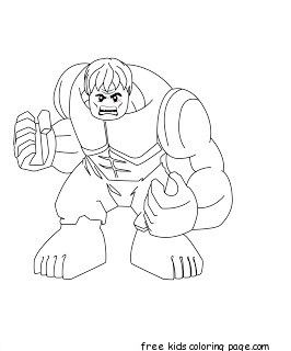 Print Out Lego Superheroes Hulk Coloring Pages Avengers Para