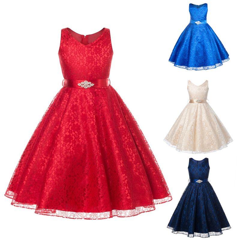 Barato Festa de casamento Da Princesa Vestido Da Menina Desgaste ...