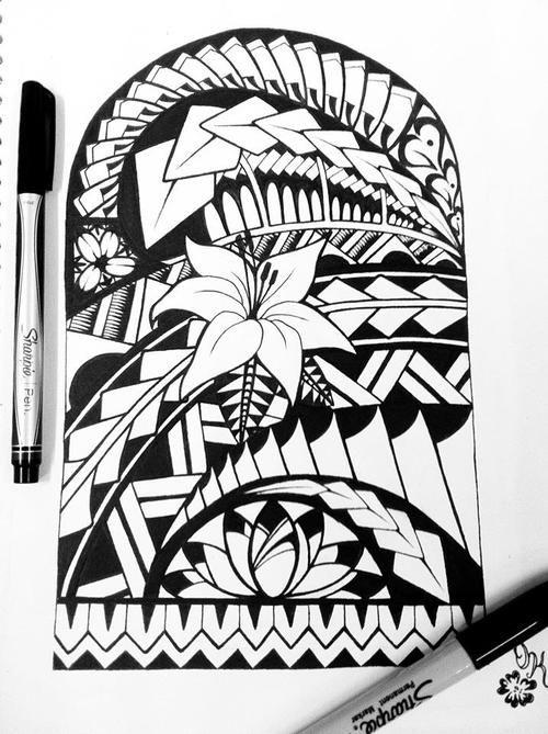 Pacific Tribal Arts Designs Samoan Tribal Tattoo Flower Tattoo Tatt Ink Tribal Polynesian Samoan Tattoo Tribal Art Designs Samoan Tribal Tattoos