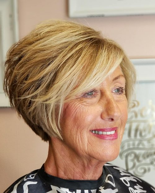 18 Easy Hairstyles Haircuts For Older Women In 2020 Bobs For Thin Hair Short Hair With Layers Haircut For Older Women