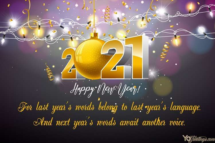 Sparkling New Year 2021 Cards Making Online Free Happy New Year Images New Year Images New Year Greeting Cards