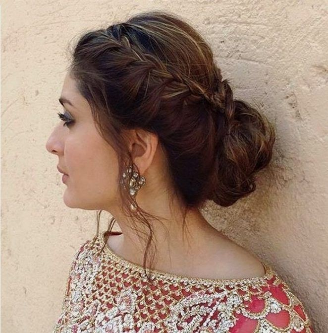 Best And Easy Eid Hairstyle For Pakistani Girls Http Www Womenclub Pk Best Easy Eid Hairstyle Pakist Bridal Hair Buns Engagement Hairstyles Long Hair Styles