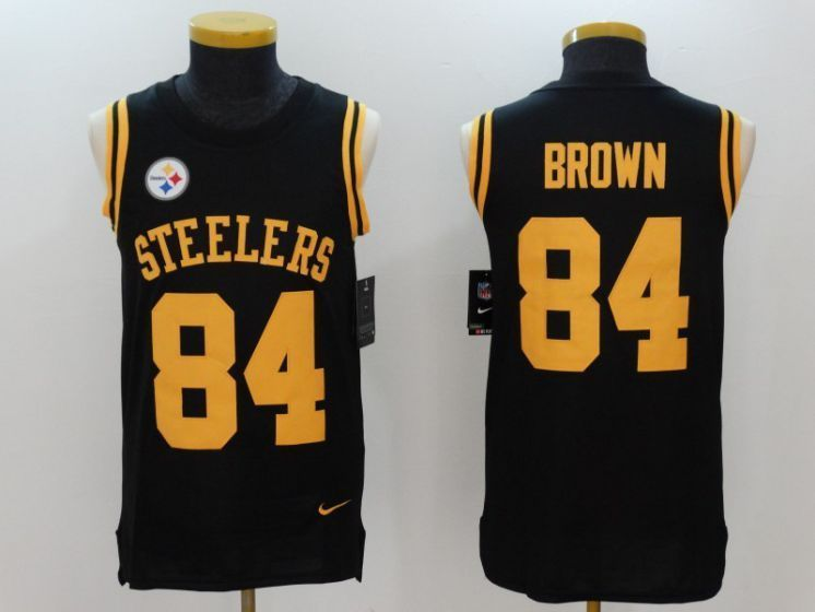 meet 13f8c 224a2 Men Pittsburgh Steelers 84 Brown Black Rush Player Name ...