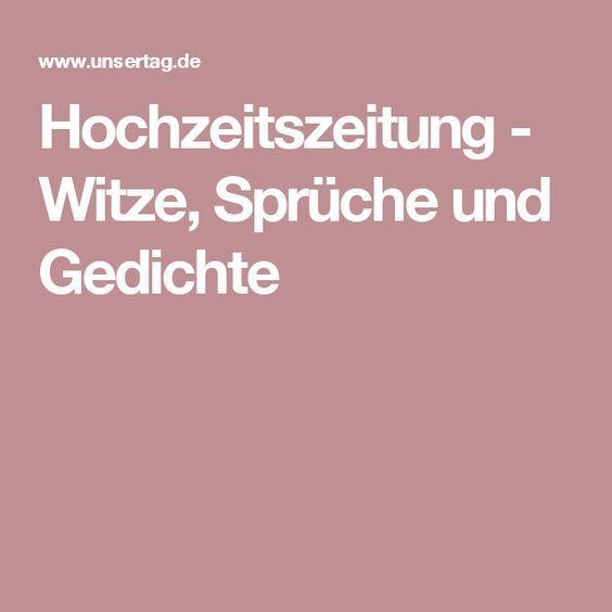 Hochzeitszeitung Witze Spruche Und Gedichte Hochzeit