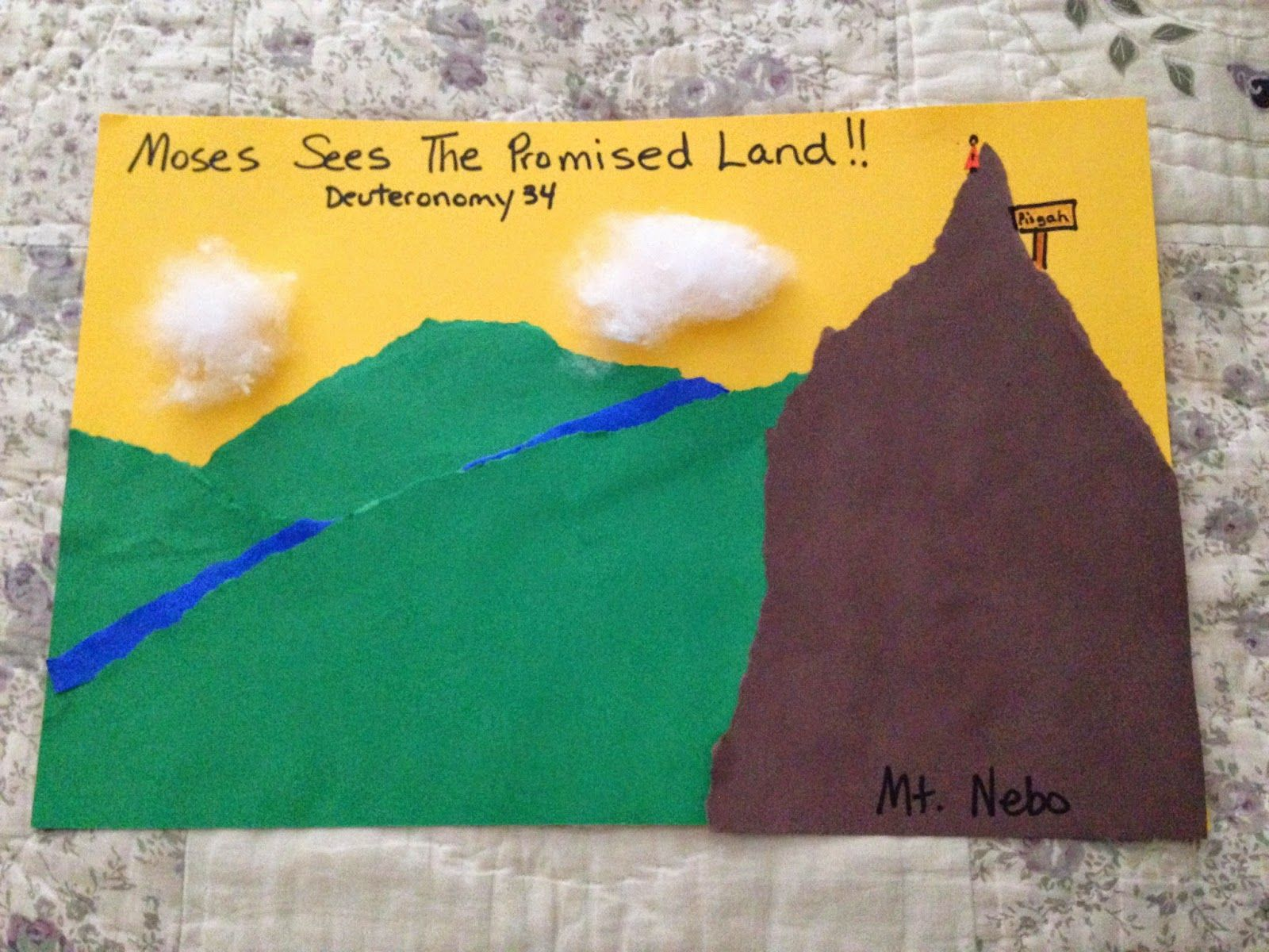 children u0027s bible lessons lesson moses sees the promised land