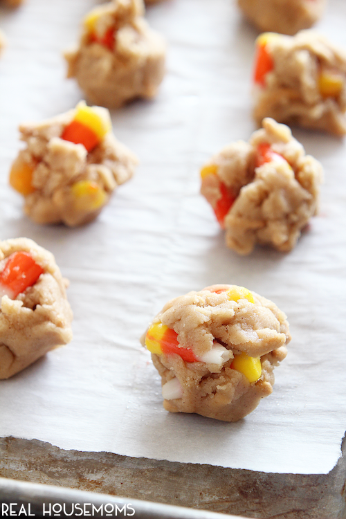 candy corn crunch cookies are a great halloween dessert idea that everyone is sure to love