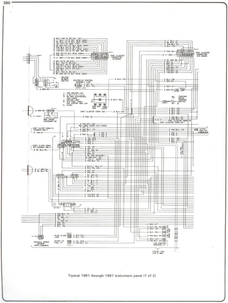 81 87 Instrument Pg1 At 78 Chevy Truck Wiring Diagram