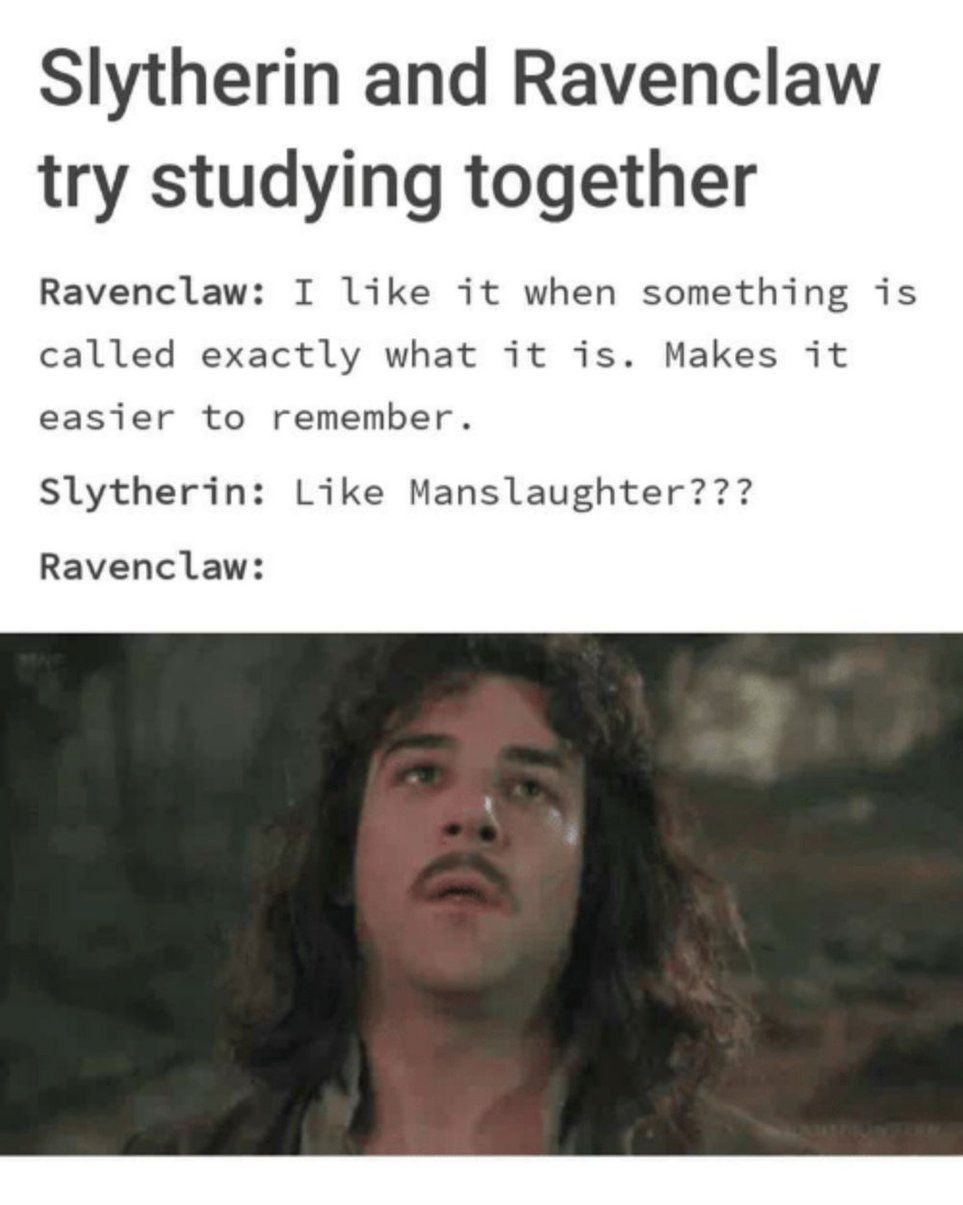 A Decent Rivalry Exists Between The Hogwarts Houses Of Slytherin And Ravenclaw And These Ten Hilario Slytherin Harry Potter Harry Potter Headcannons Ravenclaw